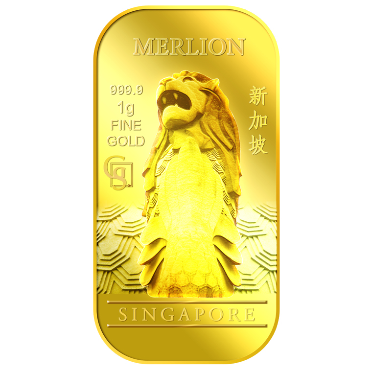 1g SG Merlion Classic Gold Bar