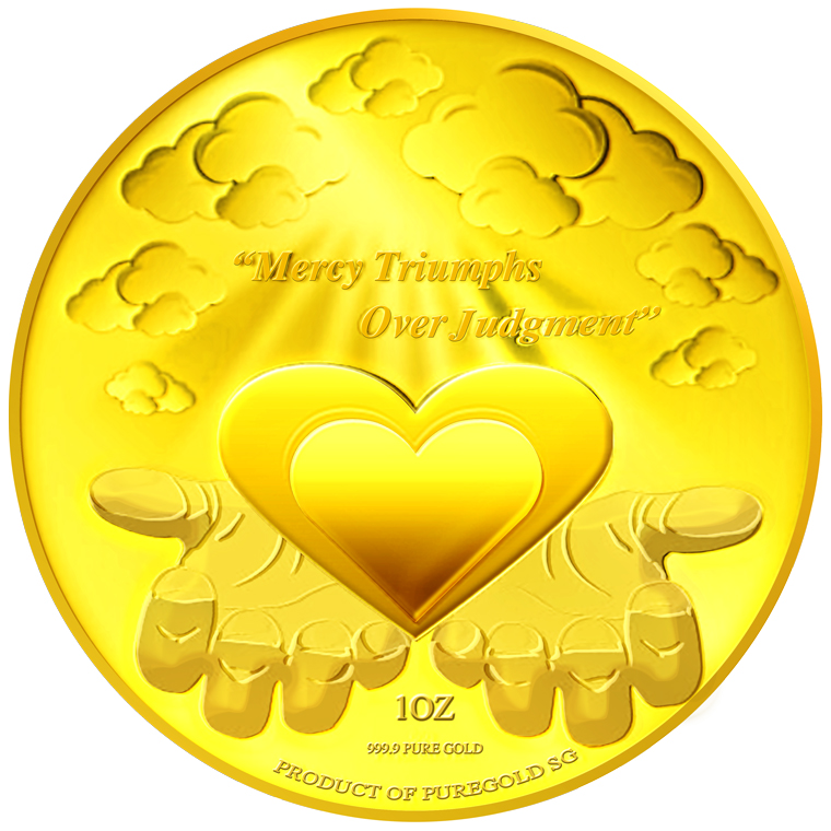 1oz Mercy Triumphs Over Judgment Gold Medallion (3RD LAUNCH)