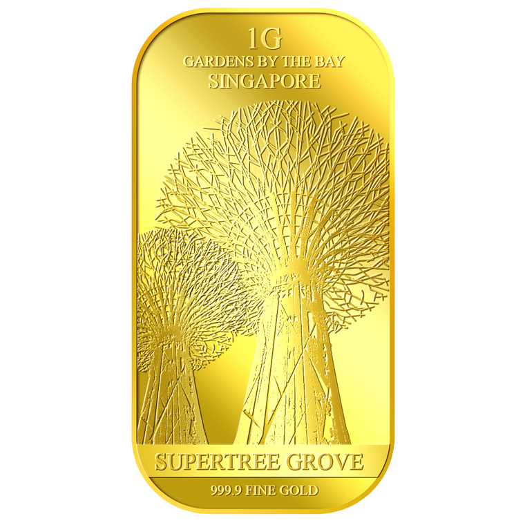 1g SG Supertree Gold Bar