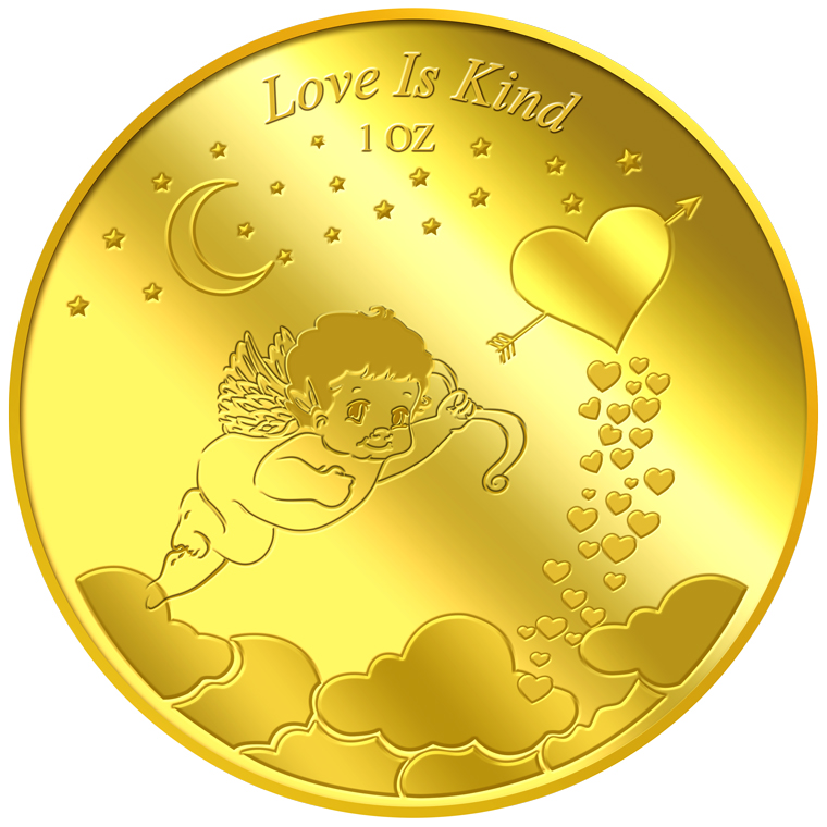 1oz Love is Kind Gold Medallion