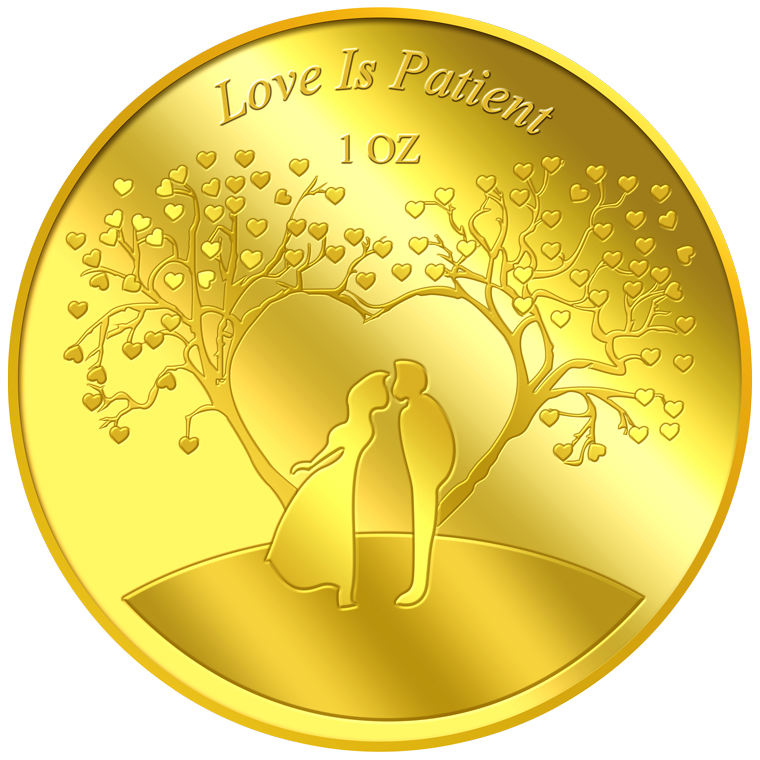 1oz Love is Patient Gold Medallion