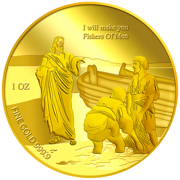 1oz Fishers of Men Gold Medallion (9TH LAUNCH)