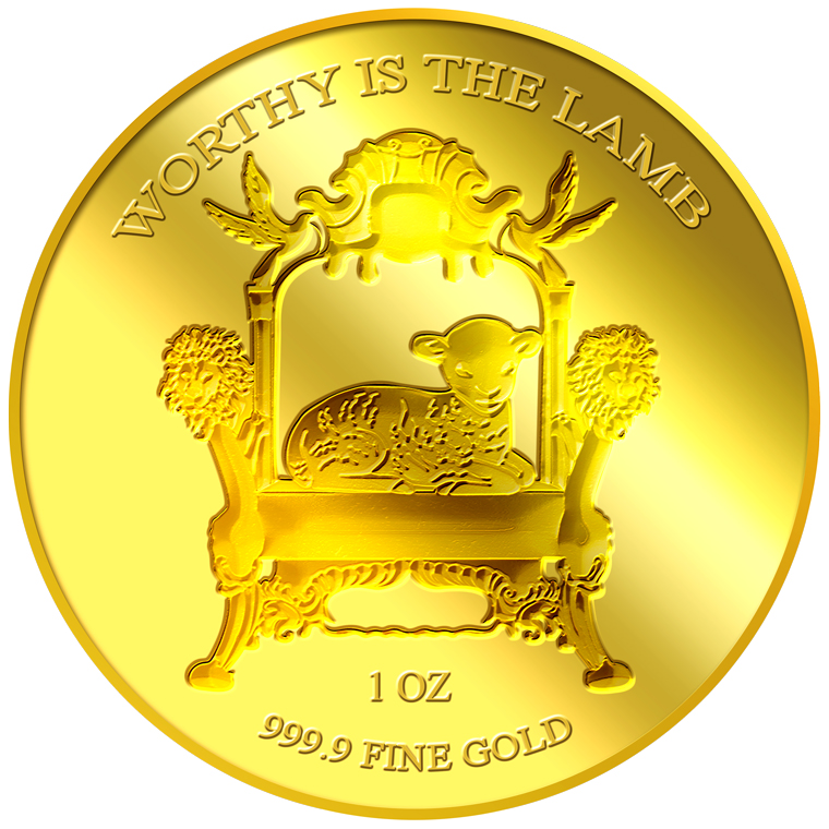 1oz Worthy is the Lamb Gold Medallion (7TH LAUNCH)