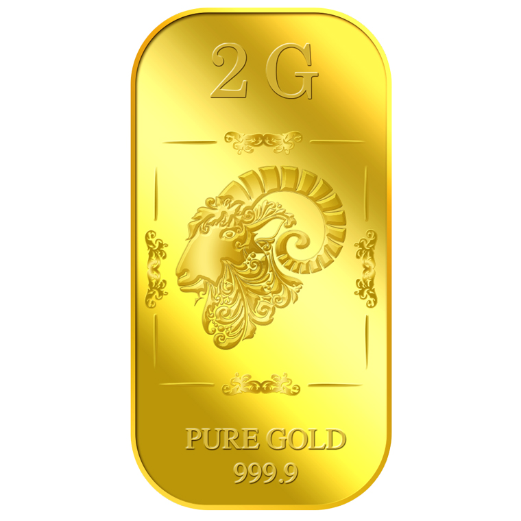 2g Golden Ram Gold Bar
