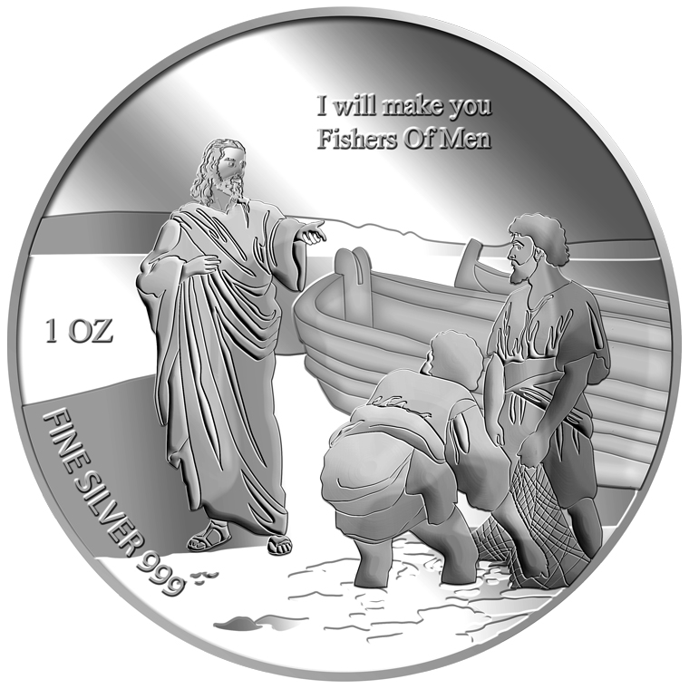 1oz Fishers of Men Silver Medallion (9TH LAUNCH)