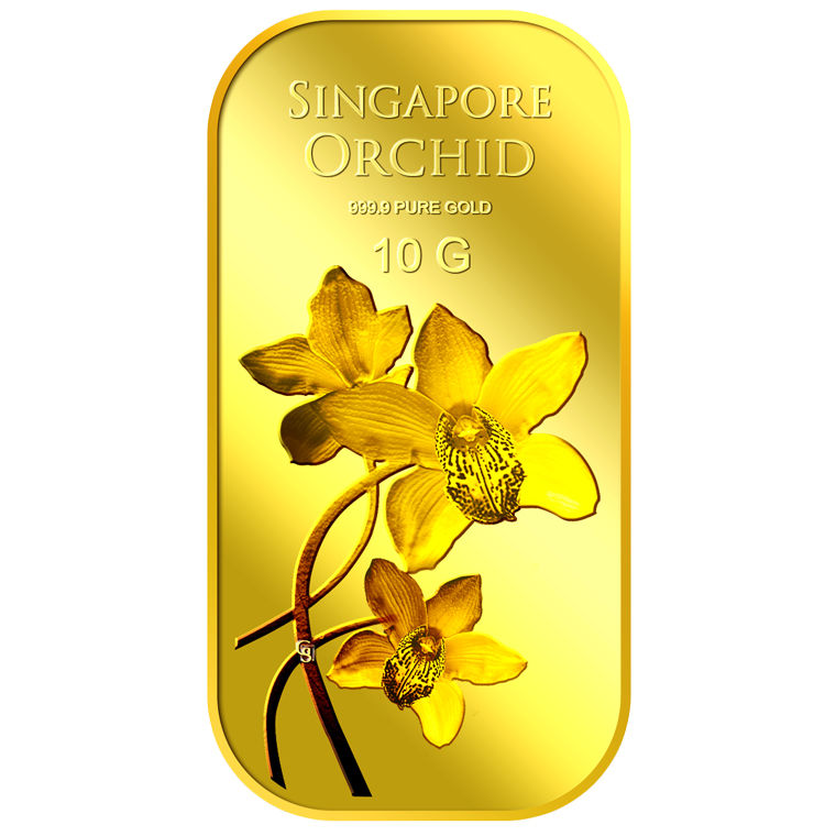 10g SG Orchid (Series 2) Gold Bar