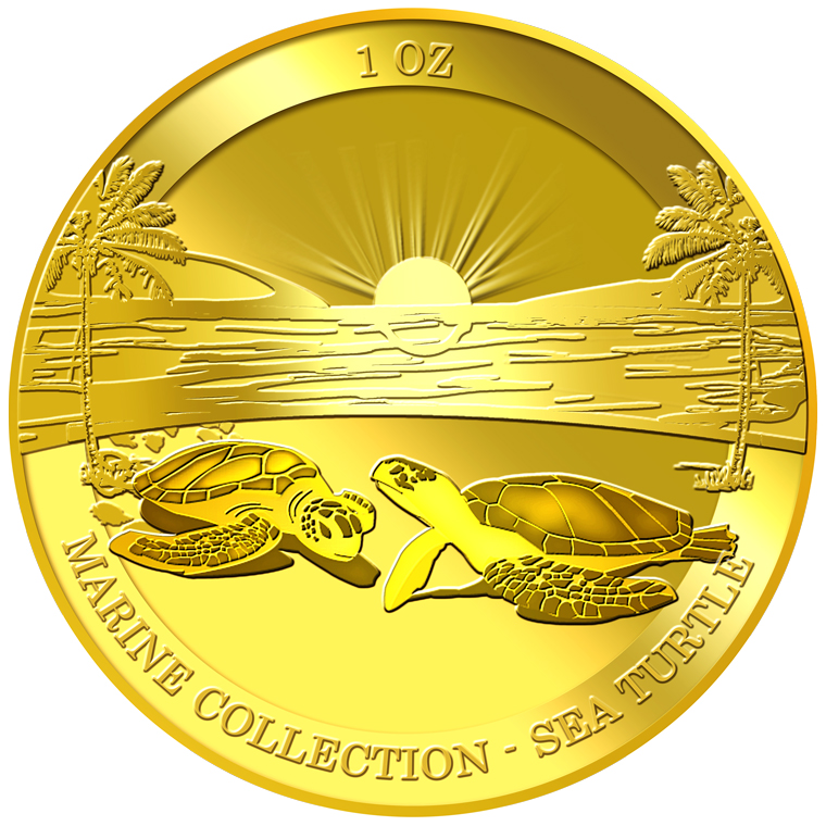 1oz Sea Turtle Gold Medallion