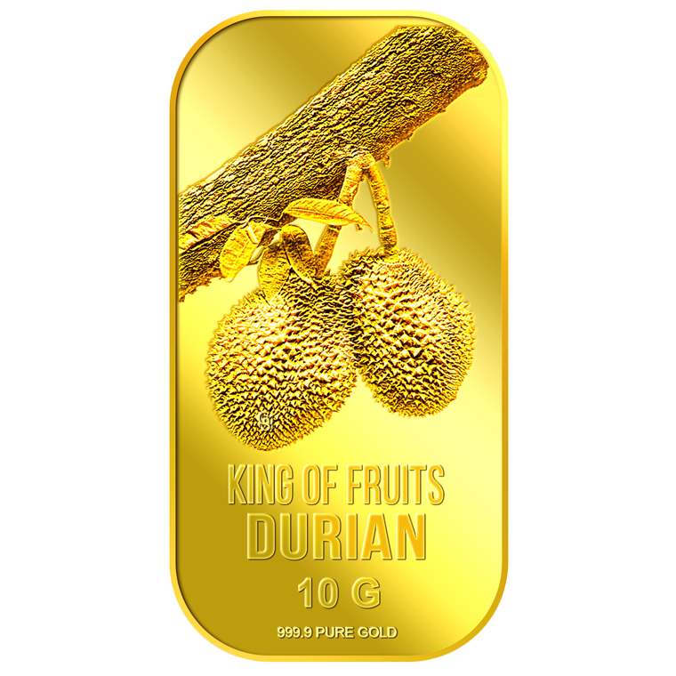 10g King of Fruits Durian Gold Bar