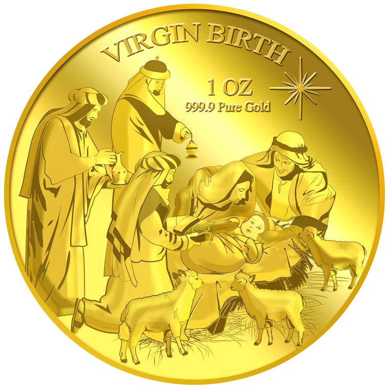 1oz Virgin Birth Gold Medallion (11TH LAUNCH)