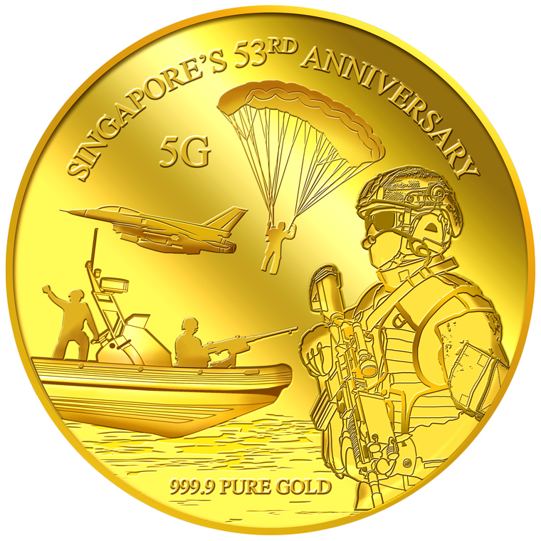 5g SG 53rd Anniversary Gold Medallion (YEAR 2018)