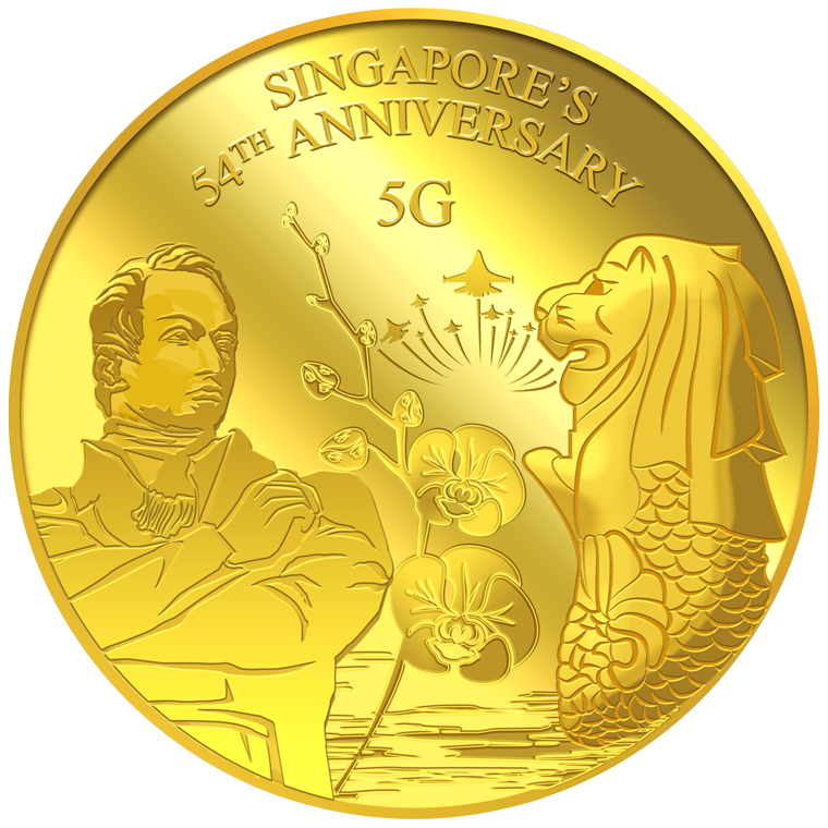 5g SG 54th Anniversary Gold Medallion (YEAR 2019) (Coming Soon)