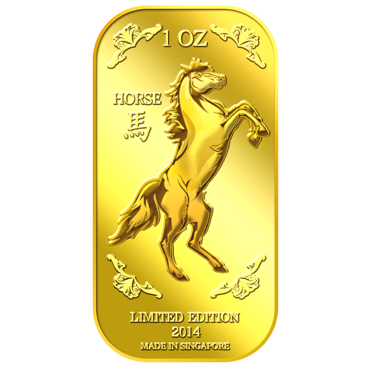 1Oz Golden Horse Gold Bar