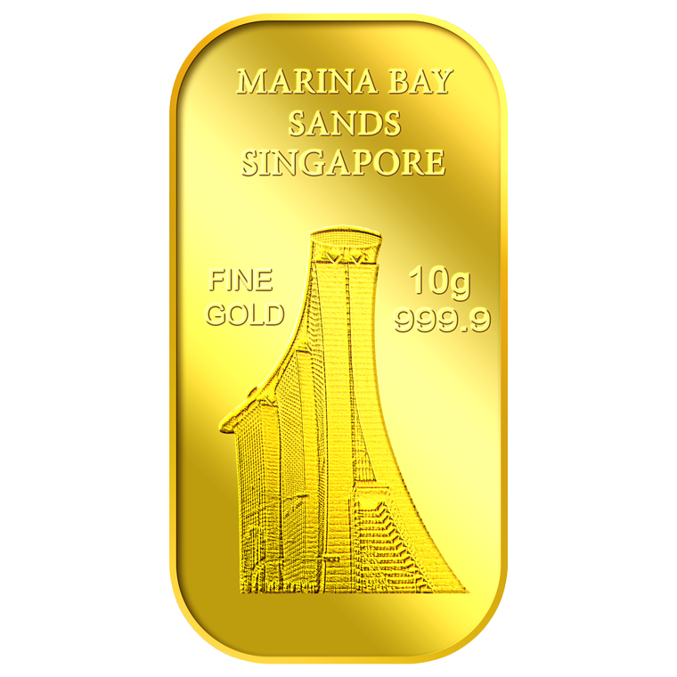 10g SG Marina Bay Sands Gold Bar